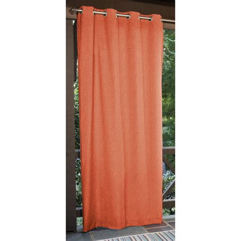 outdoor curtain panels shop allen roth 108 in l coral patio curtains outdoor window curtain panel at lowes