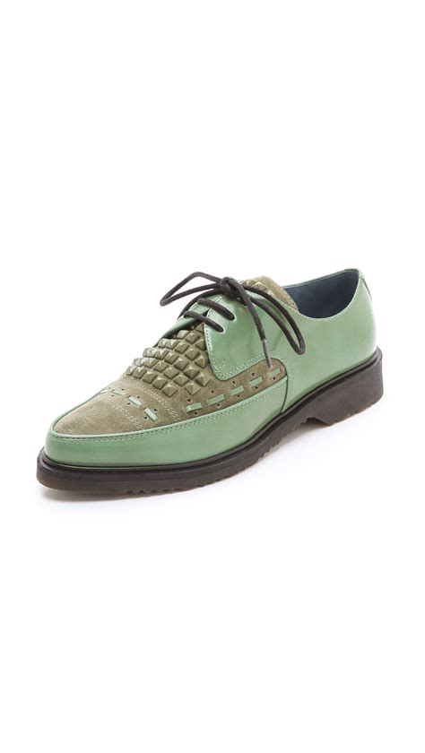 oxford creepers shoes marc by marc oxford creepers in green lyst