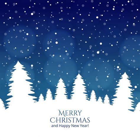 merry christmas tree  happy  year festival card vector