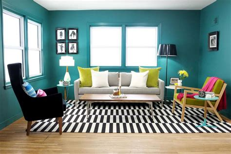 how to use green in black white room 22 teal living room designs decorating ideas design trends