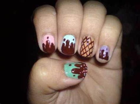 nail art ice cream tutorial yummy ice cream nail art tutorial youtube