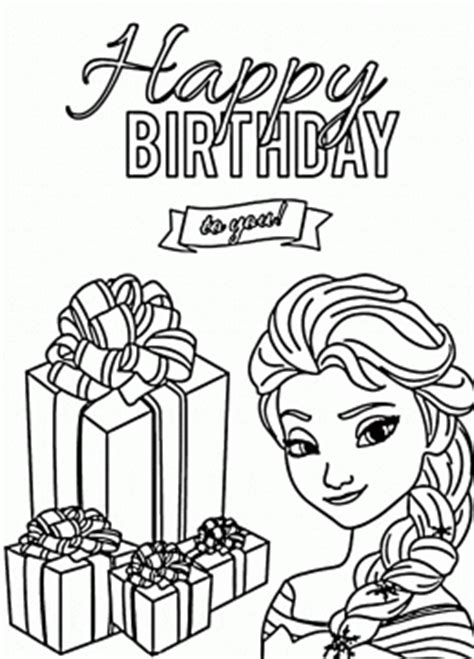 happy 2nd birthday 3rd 4th 5th sketch coloring page