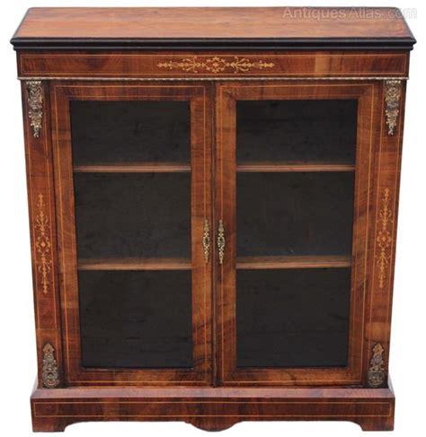 Antique Walnut Display Cabinets Uk Victorian Walnut Aesthetic Glazed Display Cabinet
