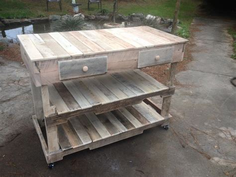 Rolling Kitchen Island Table Pallets Made Kitchen Island