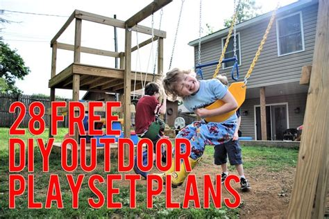 diy backyard playground plans the ultimate collection of free diy outdoor playset plans