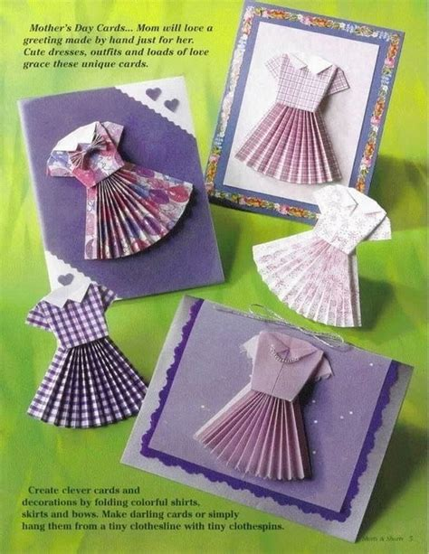 Origami For Clothes - clothing origami book crafts ideas crafts for