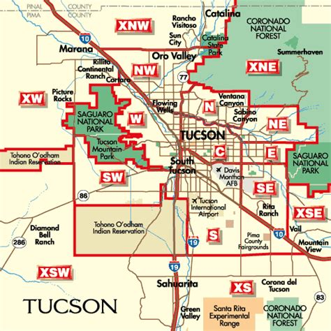 printable zip code map of tucson az tucson arizona city map tucson arizona mappery