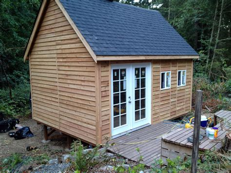 12 x 16 cottage cabin shed with porch plans 81216 ebay roof pitch for a cabin with loft joy studio design