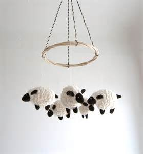 baby mobile sheep nursery decor baby gift shower by