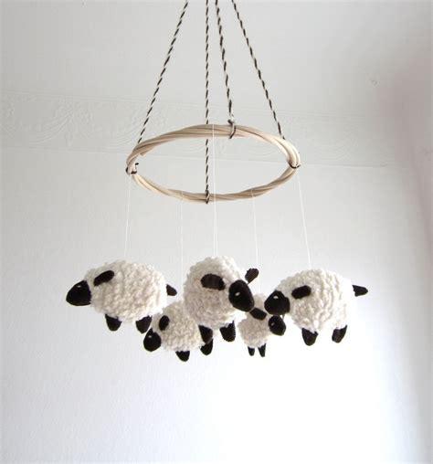 Sheep Nursery Decor Baby Mobile Sheep Nursery Decor Baby Gift Shower By Pingvini