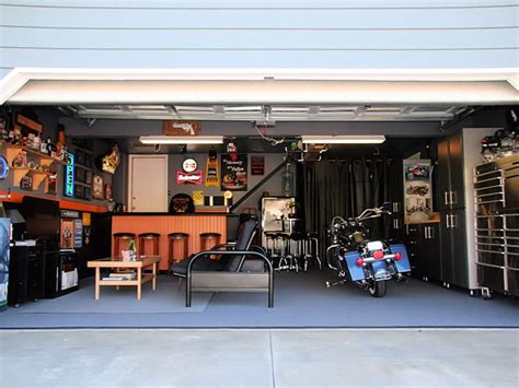 harley davidson theme garage bar hacked gadgets diy tech