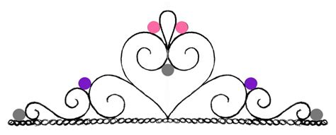 fondant crown template tiara template clipart best