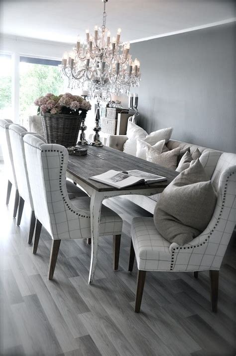 Dining Room With Grey Floor 25 Beautiful Neutral Dining Room Designs Digsdigs
