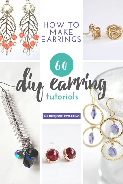 learn to make jewelry at home how to make earrings 60 diy earrings