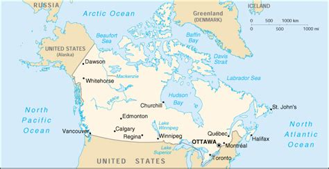 cia world map of canada