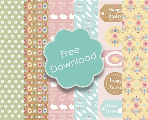 Free Craft Paper Downloads - printable easter papers tags printable decor