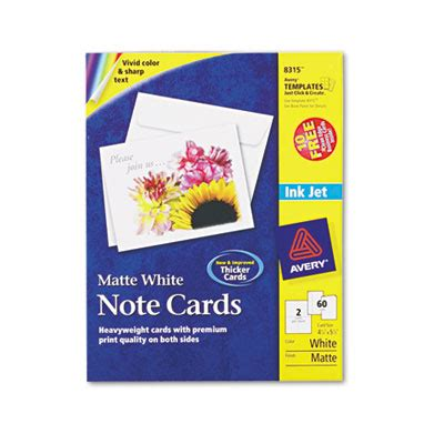 avery 8315 template avery 8315 note cards with matching envelopes