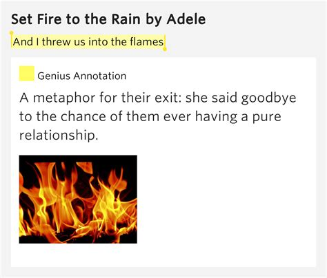 set fire to the rain by adele f t smith sheet music on and i threw us into the flames set fire to the rain by adele
