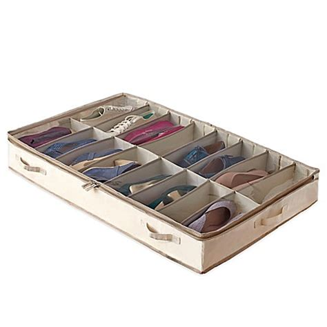 bed bath and beyond under bed storage real simple 174 garment storage underbed shoe bag bed bath beyond