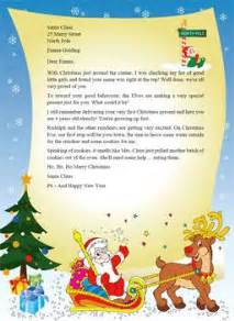 letter from santa template word santa claus stationary