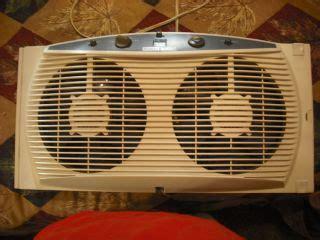 window fan intake or exhaust duracraft dw628 twindow plus dual window fan white on