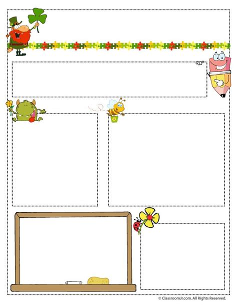 march teacher newsletter template classroom jr