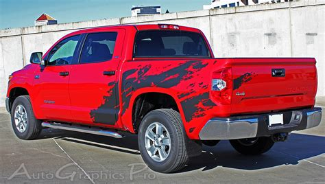 truck bed decals 2014 2017 toyota tundra quot shredder quot hood and truck bed decal 3m vinyl graphics kit