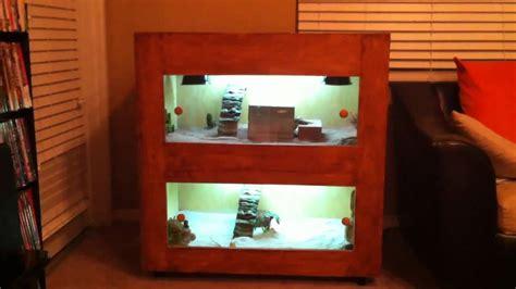 create my home custom bearded dragon cage youtube