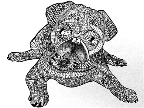 enlightened pugs coloring book books artist bloc by dellinger