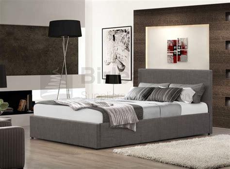 Grey Fabric Ottoman Bed Birlea Berlin 4ft Small Grey Fabric Ottoman Bed By Birlea