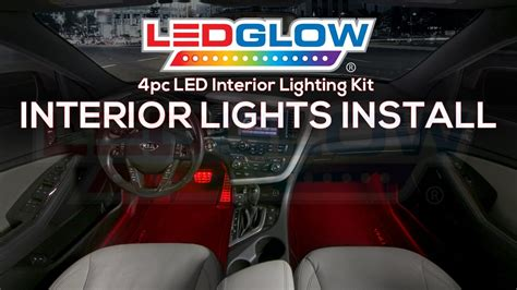 how to install interior led lights in car with switch ledglow how to install car interior led lights youtube