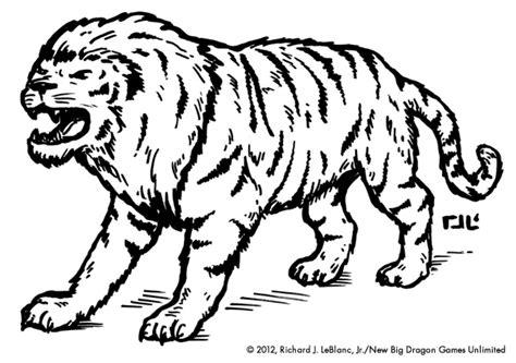 save vs dragon new monster illustration of the week liger