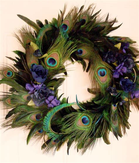 peacock feather decorations home peacock feather wreath home decor blue turquoise