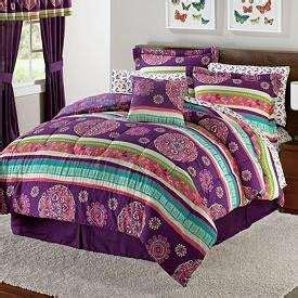 purple teen bedding twin girls teen purple black glee comforter bedding set