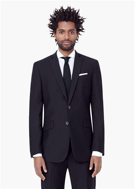 Blazer Modern Mango Modern Slim Fit Suit Blazer In Black For Lyst