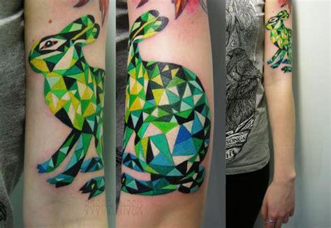 tattoo convention sasha unisex green abstract hare tattoo by sasha unisex best tattoo