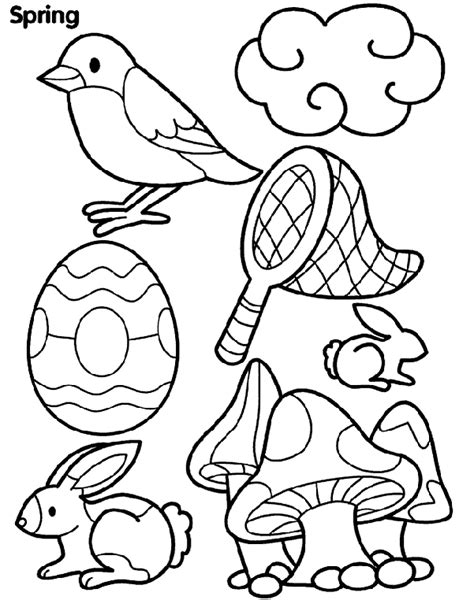 Spring Things Coloring Page Crayola Com Things To Print And Color