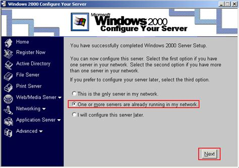 windows  server configure active directory