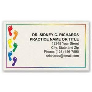 podiatry business cards color designer podiatry business cards colored medicalartspress