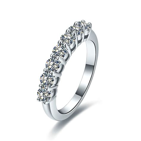 drop shipping 0 7ct 7 stones synthetic engagement