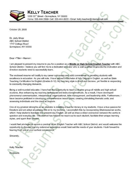 letter sample esl teacher cover application english for resume