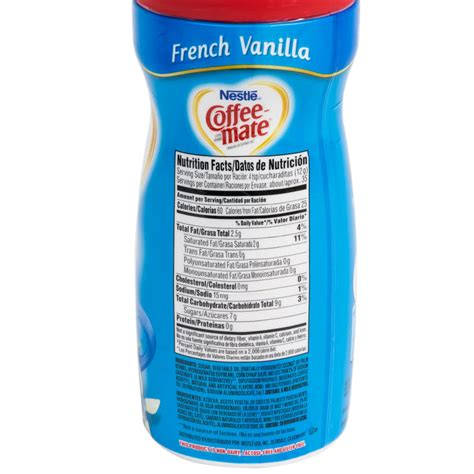 Creamer Coffee Mate nestle coffee mate vanilla coffee creamer shaker