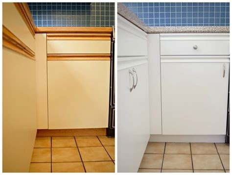 Painting 80s Cabinets by 15 Amazing Ways To Redo Kitchen Cabinets Lovely Etc