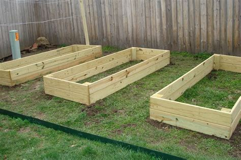 raised beds  pressure treated wood