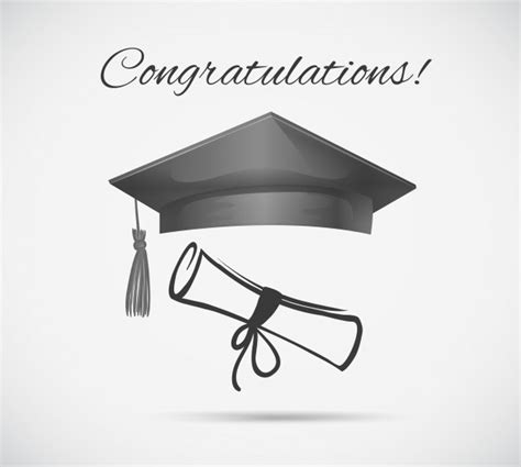 congratulations graduation card template graduation cap vectors photos and psd files free