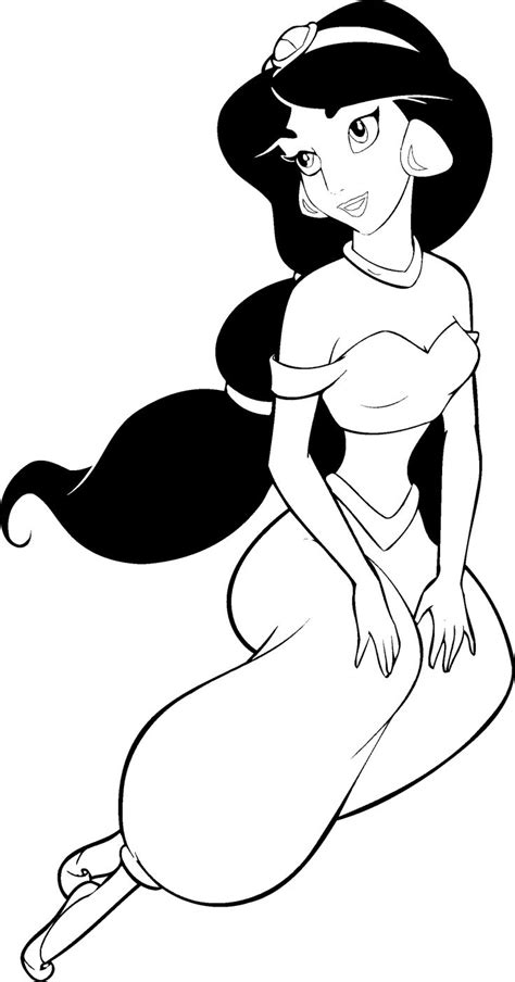 coloring pages of princess jasmine printable coloring pages disney aladdin princess jasmine