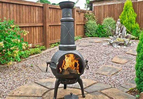 chiminea outdoor fireplace nz cast iron chimenea grabone nz