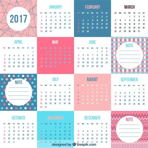 design kalender vector fantastische 2017 kalender in plat design vector
