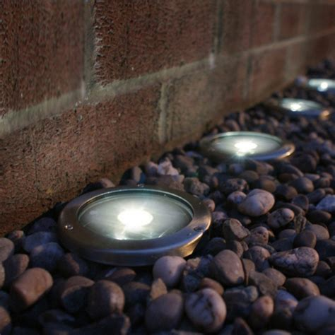 Solar Led Patio Lights Stainless Steel Solar Led Light Deck Ground Lights A Set Of Four Lights Patio Light