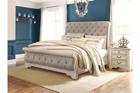 ashley furniture realyn sleigh bed mattress closeouts